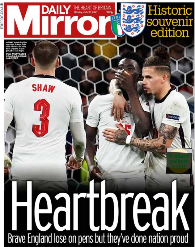 Euro newspaper front pages: Mirror