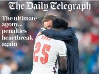 Euro final newspaper front pages: Telegraph
