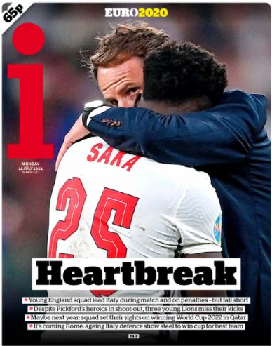 Euro front pages: The i