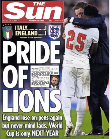 Euro final front pages: The Sun