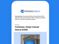 Austin Rief and Alex Lieberman founded Morning Brew in 2015