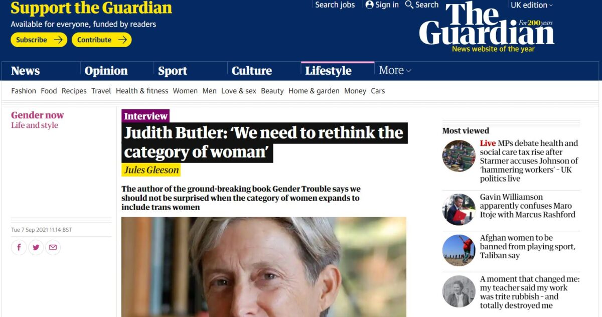 Guardian pulls quotes from interview in which academic compared 'anti-gender ideology' to fascism