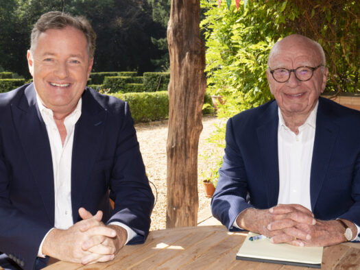 Piers Morgan signs global deal with Rupert Murdoch ahead of News UK TV channel launch