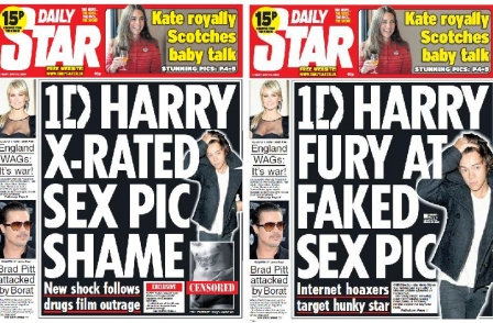 Daily Star sued for £100k over first edition Harry Styles 'X-rated sex pic shame' error