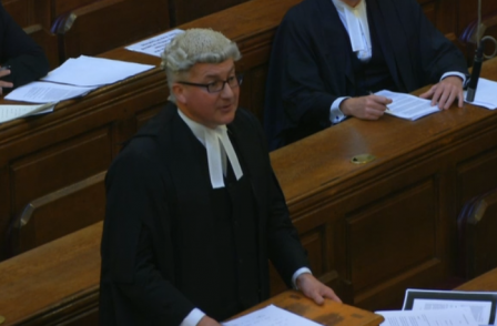 PM's brother makes history as the first barrister to be filmed in Court of Appeal