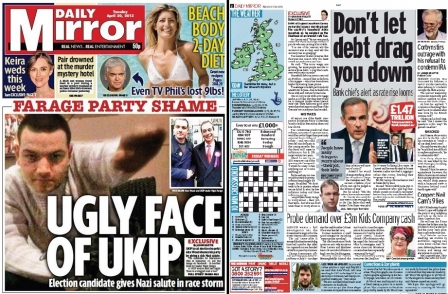 Daily Mirror apologises to former UKIP candidate after interpreting phone reach as 'Nazi salute'