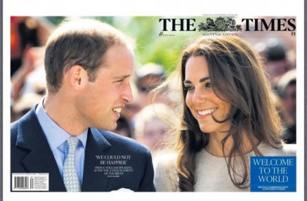 Times royal baby souvenir issue achieves biggest national press circulation boost