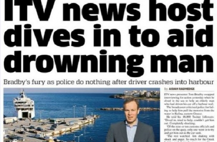 ITN's Tom Bradby wrong to accuse officials of standing by, says Greek coastguard