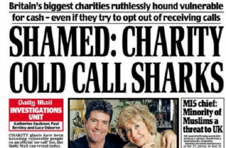 Daily Mail and Mail on Sunday commended by MPs for investigations into charity fundraising methods