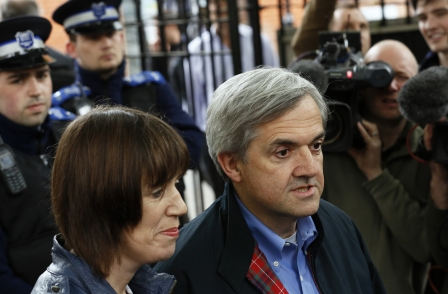 Spurned ex-wife wanted to 'out' Chris Huhne in the Daily Telegraph after he left her for bisexual lover, court told