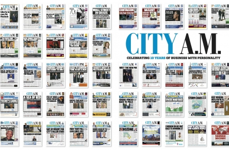 City AM celebrates ten years with redesign and special edition