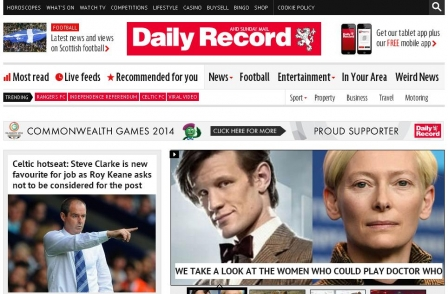 Daily Record and Mirror websites to broadcast Scotland rugby match for free online