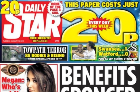 National press ABCs, December 2015: Cut-price Star grows sales and hurts Mirror titles