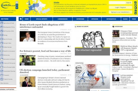 News website partly funded by EU launches in UK ahead of possible in-out referendum