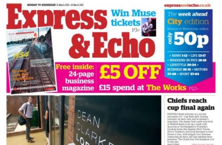 Mid Devon Gazette editor takes on responsibility for Exeter's Express and Echo