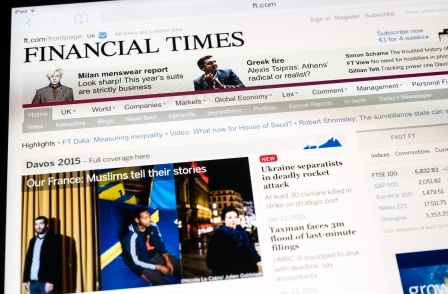FT digital subscribers - up 14 per cent to 520k - now make up 70 per cent of circulation