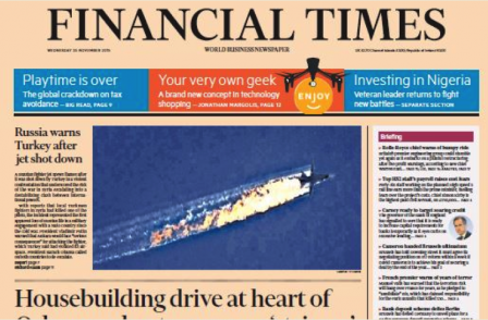 Financial Times wins five prizes at Comment Awards
