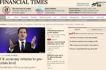 FT half-year results: Digital now makes up two-thirds of readership after 33 per cent rise to 455k subscribers