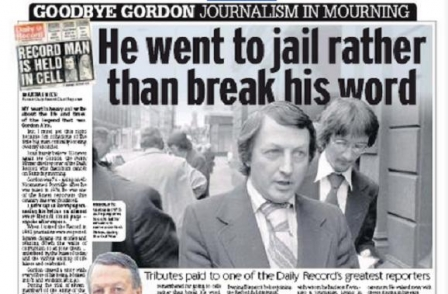 Former Daily Record chief reporter Gordon 'Porridge' Airs, who spent a night in jail to protect his source, dies aged 75
