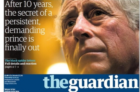 Guardian's Roy Greenslade hits out at rivals' failure to 'congratulate' paper on Prince Charles letters victory