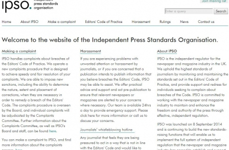 Press regulator IPSO to commission external review to test 'independence and effectiveness'