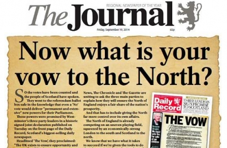 Northern regionals share front page call for 'sensible devolution' from Westminster