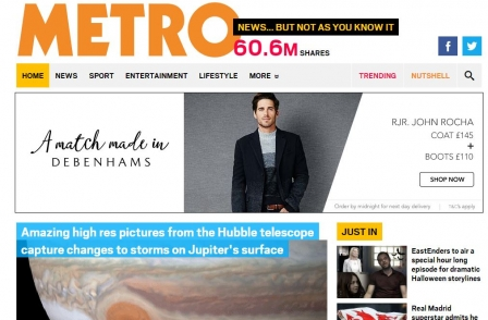 Website ABCs: Metro in freefall, Sun drops below Express, Mirror blames Jennifer Lawrence for no yearly growth