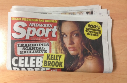 Exclusive topless pics of celebrities hacked from iCloud revealed by Midweek Sport (not actual pics)