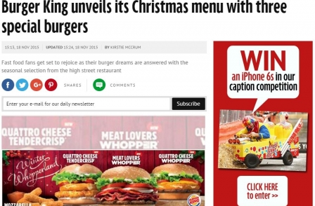 Daily Mirror resorts to making journalists sell burgers