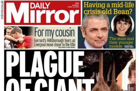 Daily Mirror wrongly claimed front page picture of giant rat was taken in Liverpool