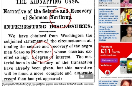 161 years a mistake: New York Times corrects errors in Solomon Northup story from 1853