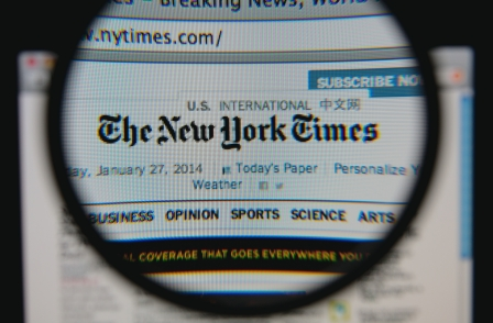 New York Times London office may exceed 100 staff but it is 'not looking to compete with local media'