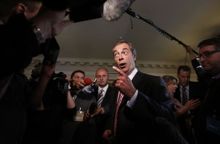 Farage says Newsnight 'little more than a televised version of The Guardian' which should be 'put out to grass'