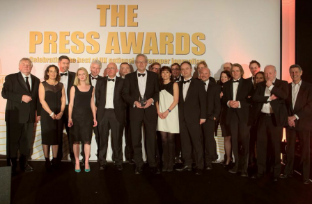Times is named Press Awards newspaper of the year for exposing Rotherham abuse scandal