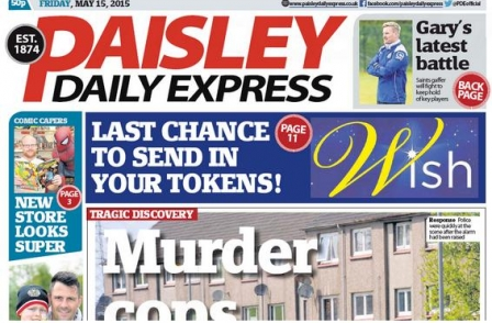 Editor and deputy at Paisley Daily Express take voluntary redundancy