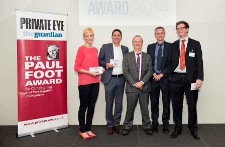 Sunday Times Fifa Files and Private Eye's 'Shady Arabia' probe joint winners of the Paul Foot Award