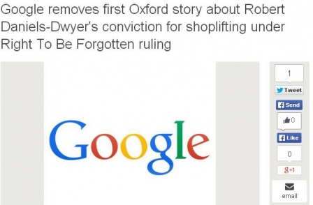 PCC rejects privacy complaint from man who objected to coverage of his successful 'right to be forgotten' request