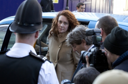Rebekah Brooks and Andy Coulson arrive at the Old Bailey to stand trial