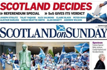 Johnston Press to merge Scotsman, Scotland on Sunday and Edinburgh Evening News with 45 jobs thought to be at risk