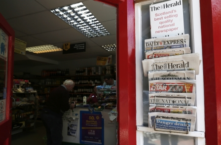 Survey finds one-third of Scots have given up regular newspaper reading since millennium