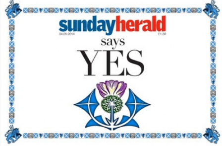 Sunday Herald becomes first Scottish newspaper to back yes vote on independence