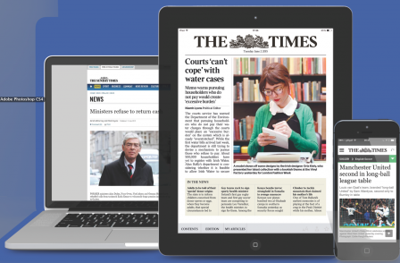 News UK claims journalism first for Ireland with launch of new Times digital edition