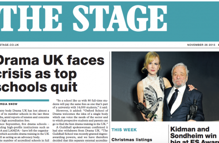 Print redesign for 135-year-old The Stage as it increases online focus