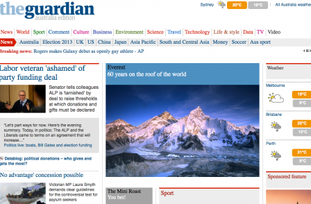 Guardian Australia launch sees 634 per cent traffic increase for Swan Hill Guardian website