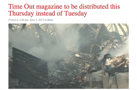 Time Out to be distributed late for first time after fire destroys more than 225,000 copies