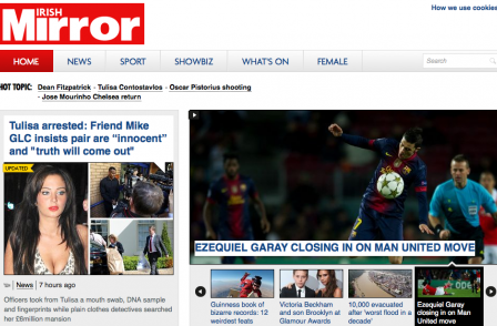 Irish Daily Mirror website aims for 0.5m monthly readers
