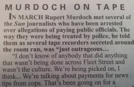 Private Eye broke Murdoch recording three weeks ago, so why is it only hitting the headlines now?
