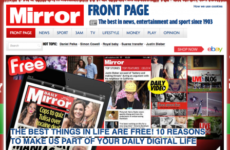 Mirror CEO wants digital to make up for print decline but admits: 'we have further to travel'