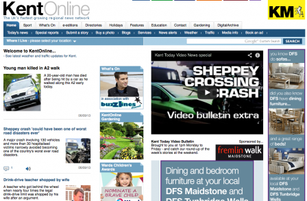 Sheppey crash coverage prompts record traffic for Kent Messenger website