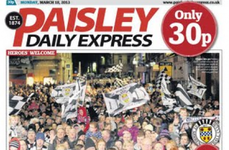 Redesign, price cut and cup win: Story behind Paisley Daily Express, UK's best-performing newspaper